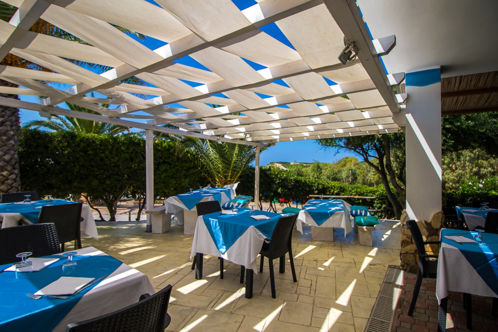 Restaurant Bar Village Camping La Foce Sardinia, Holiday Park, Italy