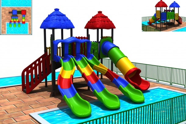 New water park, Events in Valledoria, Camping Village La Foce, Sardinia